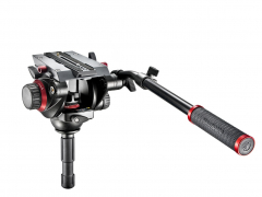 Manfrotto Pro Fluid Video Head 75 mm hemisphere and 504PLONG No. 504HD