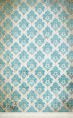 Click Props Background Vinyl with Print Damask Distressed Blue 1.52 x 2.44M No. CP-591427